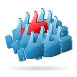 特殊观点-社会媒体概念 库存例证