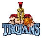 特洛伊斯巴达篮球体育吉祥人 皇族释放例证