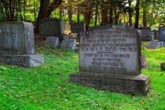 特洛伊8月2017年, NY美国:在特洛伊NY的犹太公墓场面在一个夏日 库存照片