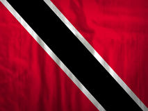 特立尼达和多巴哥旗子织品纹理纺织品 免版税库存照片