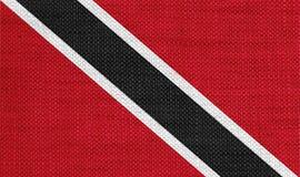 特立尼达和多巴哥的旗子老亚麻布的 免版税库存照片