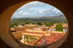 特立尼达的历史的中心的屋顶在古巴 免版税图库摄影