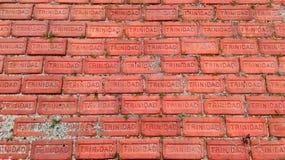 特立尼达砖 库存图片