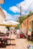 特立尼达,古巴- 2017年5月16日:老镇街道的看法 复制文本的空间 垂直 库存图片