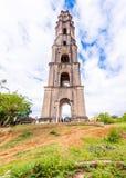 特立尼达,古巴- 2017年5月16日:Manaki Isnagi塔的看法  垂直 复制文本的空间 库存图片