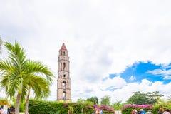 特立尼达,古巴- 2017年5月16日:Manaki Isnagi塔的看法  复制文本的空间 图库摄影