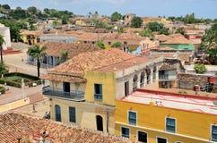 特立尼达,古巴的屋顶 库存照片