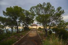 特立尼达,锡切斯,西班牙的教堂 免版税库存图片
