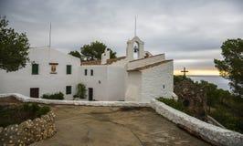 特立尼达,锡切斯,西班牙的教堂 库存照片
