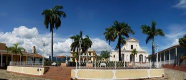 特立尼达de古巴,广场市长 库存照片