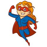 特级英雄妇女漫画人物 免版税库存照片