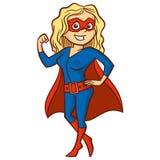 特级英雄妇女漫画人物 库存照片