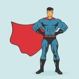 特级英雄立场传染媒介例证 免版税图库摄影