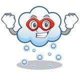 特级英雄雪云彩字符动画片 库存图片