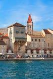 特罗吉尔耶路撒冷旧城,克罗地亚 免版税库存照片