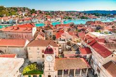 特罗吉尔,达尔马提亚,克罗地亚 免版税库存图片