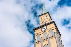 特罗姆瑟大教堂在挪威 免版税库存照片