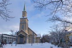 特罗姆瑟大教堂 库存照片