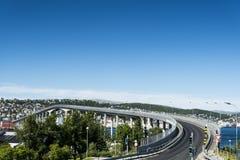 特罗姆瑟桥梁 库存图片
