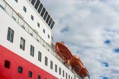特罗姆瑟,挪威港  库存图片