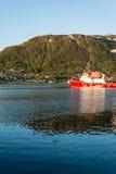 特罗姆瑟,挪威港  库存照片