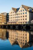 特罗姆瑟,挪威港  免版税库存图片