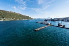 特罗姆瑟,挪威港  免版税库存照片
