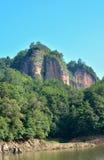 特色山在福建,泰宁,中国 免版税库存照片