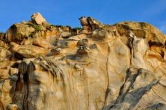 特色颜色和样式在风化花岗岩 库存照片