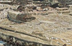 特诺奇提特兰的Templo市长废墟  墨西哥城 免版税图库摄影