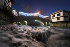 特里亚夫纳,保加利亚,欧洲看法  免版税库存照片