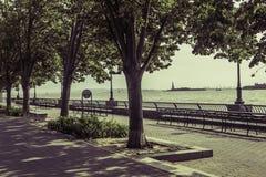 从巴特里公园的看法 库存照片