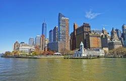 巴特里公园码头A在纽约更低的曼哈顿  免版税库存照片