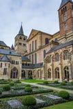 特里尔主教座堂的看法从修道院的,德国 图库摄影