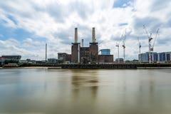 巴特锡发电站,伦敦,英国 免版税图库摄影