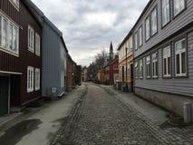 特隆赫姆老镇,挪威 免版税库存图片