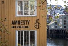 特隆赫姆,挪威- 2017年5月14日:大赦国际办公室我 库存照片