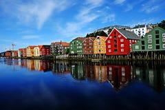 特隆赫姆,挪威 免版税库存图片