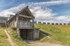 特雷勒堡北欧海盗堡垒出口 库存照片