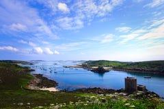 特雷斯科岛和Bryher,锡利群岛,康沃尔郡,英国 免版税库存照片