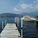 从特雷梅佐科莫湖意大利的贝拉焦 免版税图库摄影