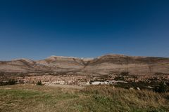 特雷比涅市波斯尼亚和Herzwgovina鸟瞰图  库存照片