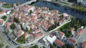 特雷比涅老镇从空气的 免版税库存照片