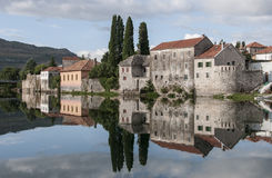 特雷比涅,一个镇在波黑 免版税库存照片