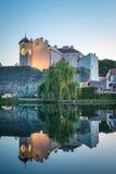 特雷比涅,一个镇在波黑 库存图片