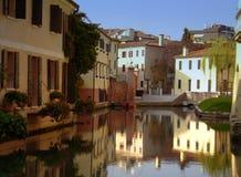 特雷维索,威尼托,意大利运河  免版税库存图片