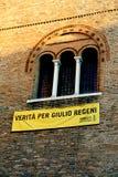 特雷维索,电视,意大利- 2016年12月8日:与inscripti的横幅 库存照片