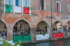 特雷维索,意大利- 5月13 :意大利退伍军人高山队伍的国民大会 库存照片