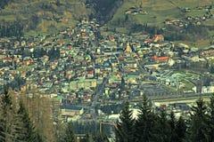 巴特霍夫加施泰因滑雪胜地(奥地利) 免版税库存照片