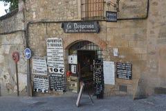 特鲁希略角埃斯特雷马杜拉西班牙地方产品的商店 库存照片